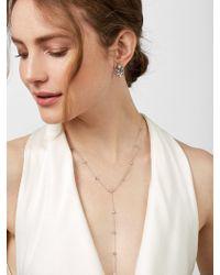 BaubleBar Silvia Cubic Zirconia Y-necklace - Metallic