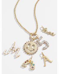 BaubleBar Biography Charm Necklace - Metallic