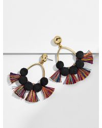 BaubleBar - Melina Pom Pom Earrings-black/rainbow - Lyst