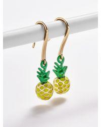 BaubleBar Pineapple Drop Earrings - Multicolour