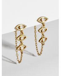 BaubleBar - Ojo Chained Earrings - Lyst