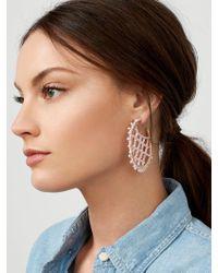 BaubleBar - Marquise Hoop Earrings - Lyst
