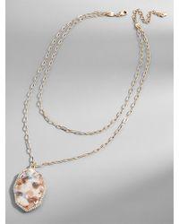 BaubleBar - Ellison Resin Pendant Necklace - Lyst