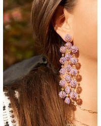 BaubleBar Shiori Flower Drop Earrings - Purple