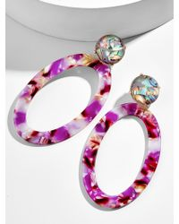 BaubleBar - Tabitha Resin Hoop Earrings - Lyst