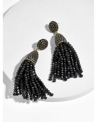 BaubleBar - Mini Metallic Piñata Tassel Earrings-black - Lyst