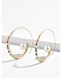 BaubleBar - Delisa Pearl Hoop Earrings - Lyst