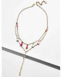 BaubleBar - Topaz Layered Y-chain Necklace - Lyst