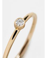 BaubleBar Serena Diamond Stacking Ring - Metallic