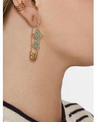 BaubleBar X Montserrat Safety Pin Earrings - Blue