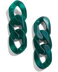 BaubleBar Mirador Resin Link Drop Earrings - Green