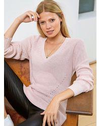 Baukjen Mila V Neck Jumper - Pink