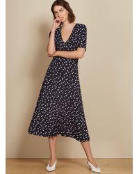 Baukjen Sapphire Button Dress - Blue