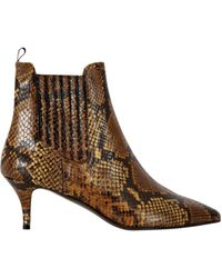 Baukjen - Elia B Snake Leather Ankle Boot - Lyst