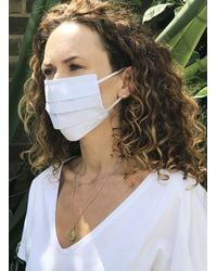 Baukjen Premium Organic Cotton Face Mask - Adult - White