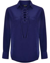 Baukjen - Alesia Lace Up Shirt - Lyst