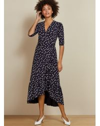 Baukjen Sapphire Ruffle Dress - Blue