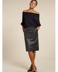 Baukjen Lynn Leather Skirt - Black