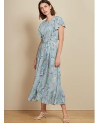 Baukjen Kaia Ruffle Dress - Blue