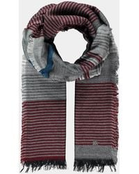 Lerros Modeschal Stripes - Grau