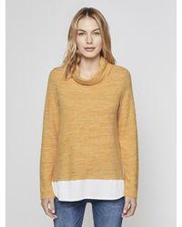 Tom Tailor Sweatshirt Sweater im 2-in-1-Look - Gelb
