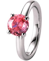 GIORGIO MARTELLO MILANO Silberring mit rosa Zirkonia, Silber 925 - Pink