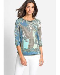 Olsen Rundhalsshirt - Blau