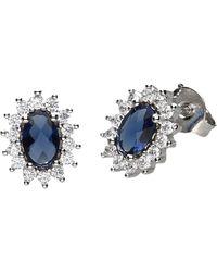 Firetti Paar Ohrstecker elegante Safir-Optik - Blau