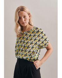 Seidensticker Shirtbluse Schwarze Rose - Gelb