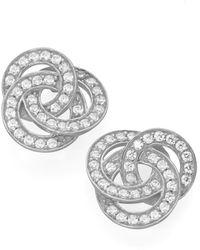 GIORGIO MARTELLO MILANO Paar Ohrstecker aus 3 verschlungenen Ringen mit Zirkonia, Silber 925/ - Weiß