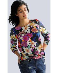 Alba Moda Bluse mit Blumendessin - Schwarz