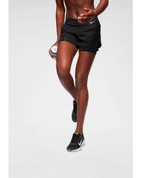 Nike Laufshorts W ECLIPSE 2IN1 SHORT - Schwarz