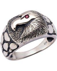 Firetti Fingerring Adler strukturiert - Rot