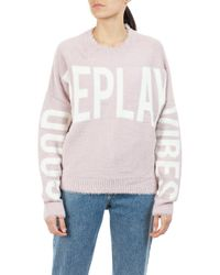 Replay Strickpullover, Good Vibes - Pink