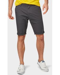 Tom Tailor Shorts Josh Regular Slim Chino-Shorts - Grau
