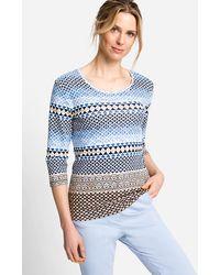 Olsen 3/4-Arm-Shirt - Blau