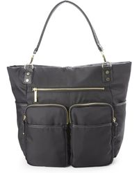 Olivia + Joy - Black Zip & Zoom Tote - Lyst