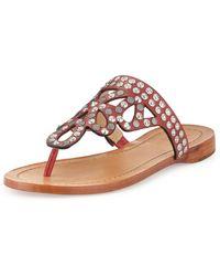 Frye Rachel Studded Thong Sandal - Lyst