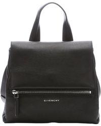 Givenchy Black Leather Pandora Pure Medium Convertible Top Handle Bag - Lyst