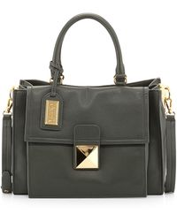 Badgley Mischka Finnie Medium Leather Satchel - Lyst