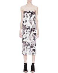 Helmut Lang Crypsis Print Silk Dress multicolor - Lyst
