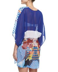 Clover Canyon - Crashing Waves Printed Coverup - Lyst