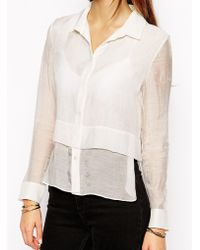SuperTrash Baracuda Shirt With Layered Detail - Lyst