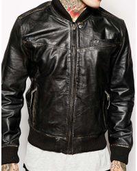 Pepe Jeans Leather Jacket - Black