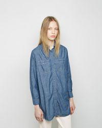 Orslow | Long Chambray Work Shirt | Lyst