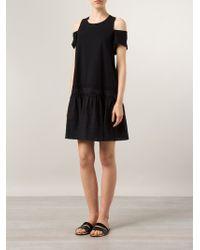 Thakoon Cut-Out Shoulder Detail Cotton Dress - Lyst