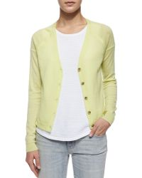 J Brand Gia Cashmere Button-Front Cardigan - Lyst
