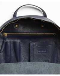 Lotuff Leather - Backpack In Indigo - Lyst