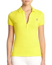 Polo Ralph Lauren Stretch Cotton Polo Shirt - Lyst