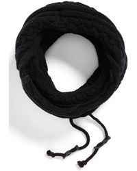 Bickley + Mitchell - Cable Knit Drawstring Snood - Lyst
